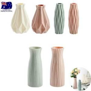 Nordic Style Plastic Origami Vase Imitation Ceramic Flower Pot Plant Decor AU