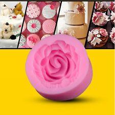 Moule Gateaux Emporte Pieces Rose Fleur Silicone pour Pâte Sucre Gâteau Design