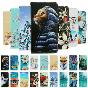For Samsung A12 A22 A32 A52 A02S Painted Flip Leather Wallet Phone Case Cover