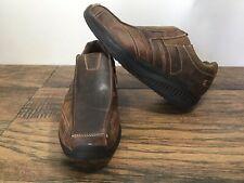 Sketchers Shape Ups Strider Leather Shoes Mens Size 11 Brown 66501 Slip On  9S