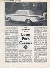 Ford Lotus Cortina  Mk 1 Autosport Road Test 1964