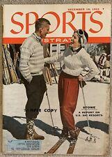 12.19.1955 STOWE Sports Illustrated US SKI RESORTS - SUGAR RAY BOXER Vintage Ads