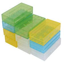 10PCS 18650 16340 CR123A Battery Case Hard Plastic Holder Storage Color Box