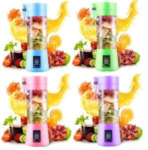 Portable Blender Fruit Juicer 6 Blades Smoothie Maker USB Travel Personal 380ml