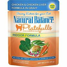 Natural Balance Platefulls Grain Free Cat Food, 3-Ounce Pouches (Pack Of 24) Ind