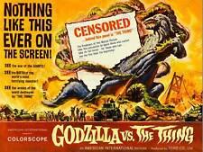 GODZILLA CONTRO COSA MOSTRO HORROR Rampage Sci Fi USA art print poster cc436