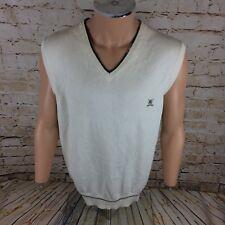 Tommy Hilfiger Golf Sleeveless Jumper Sweatshirt Vest Cream Sz XL Mens