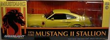 YELLOW 1976 FORD MUSTANG II STALLION GREENLIGHT 1:18 SCALE DIECAST METAL CAR