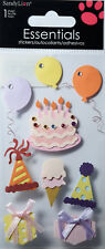 SANDYLION ESSENTIALS FEMININE BIRTHDAY Scrapbook Craft Stickers Embellishment