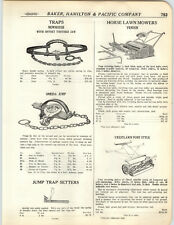 1923 PAPER AD Crestlawn Fender Horse Drawn Golf Course Lawn Mower Hercules