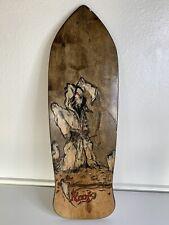 "Grim Reaper Knot Cruiser Wood Skateboard 28.75""x9.25"" Handmade/Custom/Wood Burn?"