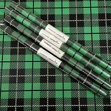 Vtg Schumacher Wallpaper Retro Plaid Stripe Tartan Black Green 5 Dbl Roll Lot