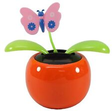 Dancing Butterfly Assorted Color Pots Solar Toy Moving Insect Office Home Decor