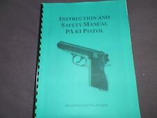 FEG, PA-63 PISTOL, INSTRUCTION MANUAL,   10 Pages