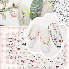 3D Nail Art Stickers Tattoos Flower Leaf Theme Nail Decals Nails Decoration Tips
