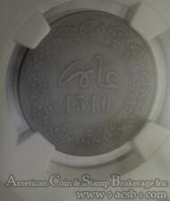Morocco 2 Falus AH1310 FS VF30 BN NGC bronze Y#2 5 Muzunas RARE 2 Year Type