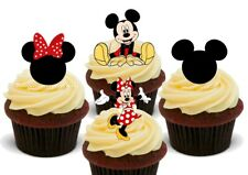 Minnie & Mickey mouse mix-12 Stand Up Premium Card Cupcake Cake Toppers