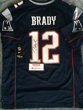 Tom Brady Blue Signed Patriots NFL On Field Jersey (TriStar COA)