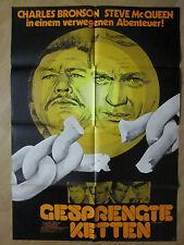 Filmposter * Kinoplakat * A1 * Gesprengte Ketten * WA 70er * Bronson + McQueen