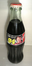 Collectible Vintage Bill Elliott Coca Cola Classic Glass Coke Bottle Sealed