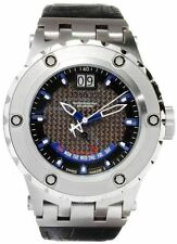 Swiss Made Invicta 10087 Reserve Subaqua Specialty Leather Strap Mens Watch