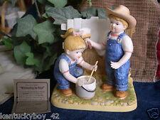 "Home Interiors Homco Denim Days ""White Washing The Fence"" Figurine w/Tag #15353"