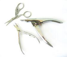 3-Piece NAIL Tool Set (Cicogna Forbici, CUTICOLE nippers & Punta SLICER)