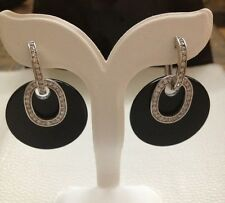 Sterling Silver & Resin Earring Black Color
