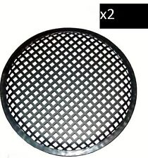 15 INCH SUBWOOFER SPEAKER COVERS WAFFLE MESH GRILL GRILLE PROTECT GUARD 2 Pair