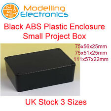 Black ABS Plastic Enclosure Small Project Box For Electronic Circuits 3 Sizes