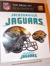 JACKSONVILLE JAGUARS NEW Car Decal Kit Official NFL 9 Decals Helmet Logo Sticker