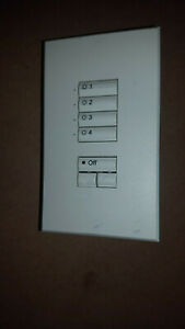 Lutron SO-4SN-WH-EGN with plate