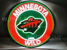 "New Minnesota Wild Led 3D Neon Sign 17"" Bar Lamp Decor Poster"