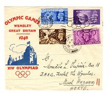 GB 1948 GVI Olympic Games Cover (partial front) / Olympic Games Wembley cds