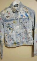 ZARA VERY RARE SOLD OUT  LIMITED EDITION DENIM PAINTED JACKET S REF 6688/221