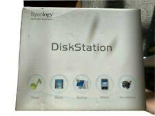 Synology Ds212j 2 Bay DiskStation Diskless System Nas Server w/ 2x 1Tb Sata Hdd