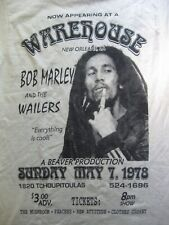 Bob Marley And The Wailers at Warehouse New Orleans - Small S white T-shirt