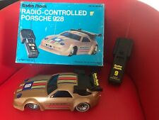 Vintage Radio Shack 1981 Radio-Controlled Porsche 928 Boxed Gold Not Working