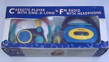 Vintage Kids Way Cassette Player with Sing-A-Long & Fm Radio with Headphones Set