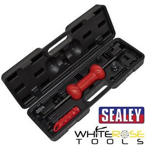 Sealey Slide Hammer Kit Carry Case Hooks Adaptor Screws Dent Panel Puller 9pc