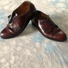 Cole Haan Sz 9.5 E Burgundy Leather Cap Toe Oxfords Men's Shoes