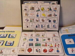 Board maker BOYS schedule & communication folder visual communication in gloss