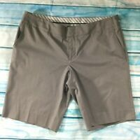 Gap Womens Shorts size 14 new Dark Gray Cotton Stretch Classic Walking Bermuda