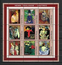 Guinea-Bissau 2001 MiNr.1669-77 Art-Paintings by Toulouse Lautrec MNH M/S $12.65