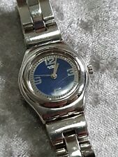 Ladies Vintage Stainless Steel Swatch Irony YSS117G Peeres Quartz Bracelet Watch
