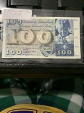 Switzerland Banknote P49g-4789 100 Francs 21.1.1965, Vf