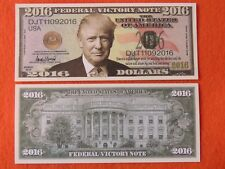 President DONALD TRUMP 2016 Victory Note ~ Cool $1,000,000 One Million Dollars