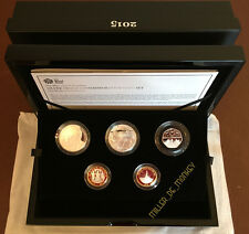 Royal Mint 2015 UK Silver Proof Commemorative Coin Set - Rare 4th Portrait Coins