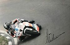 Ian Hutchinson Hand Signed Padgett Honda 18x12 Photo ISLE OF MAN TT.