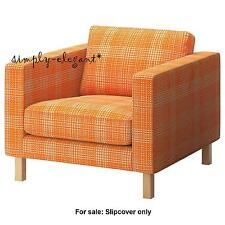 Ikea COVER - Karlstad Chair SLIPCOVER for IKEA Karlstad  Armchair Hussie Orange
